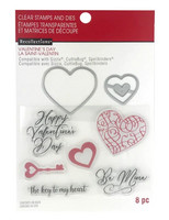 Recollections Valentine stamps & dies: Classic Valentine -setti