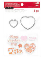 Recollections Valentine stamps & dies: Hearts & Flowers -setti