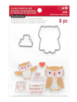 Recollections Valentine stamps & dies: Owl -setti