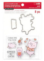 Recollections Valentine stamps & dies: Pig -setti