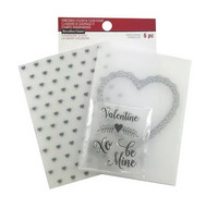 Recollections Valentine Clear Stamp & Embossing Folders: Valentine -setti