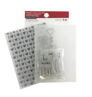 Recollections Valentine Clear Stamp & Embossing Folders: Be Mine -setti