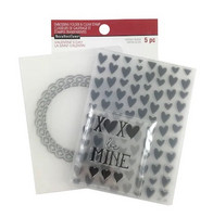 Recollections Valentine Clear Stamp & Embossing Folders: XOXO -setti