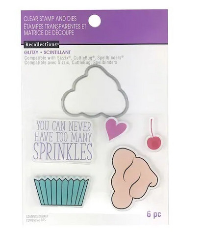Recollections Glitzy stamps & dies: Sprinkles -setti