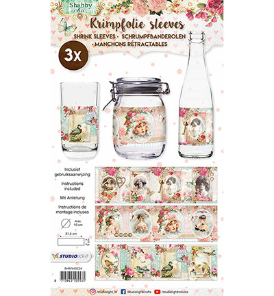 Medium Shrink Sleeves:  Shabby Chic #24