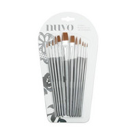 Nuvo 12 Nylon Brushes - siveltimet