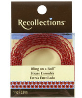 Recollections Bling on a Roll: Red 4mm Rhinestones