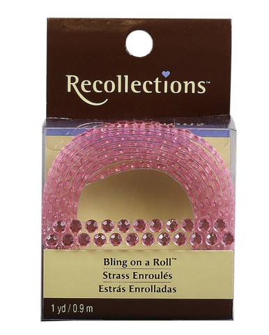 Recollections Bling on a Roll: Light Pink 4mm Rhinestones