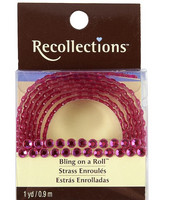 Recollections Bling on a Roll: Dark Pink 4mm Rhinestones
