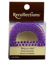 Recollections Bling on a Roll: Light Purple 4mm Rhinestones
