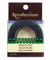 Recollections Bling on a Roll: Dark Green 4mm Rhinestones