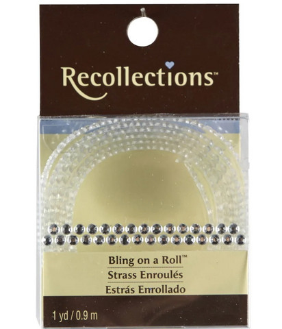 Recollections Bling on a Roll: Clear 3 mm Rhinestones