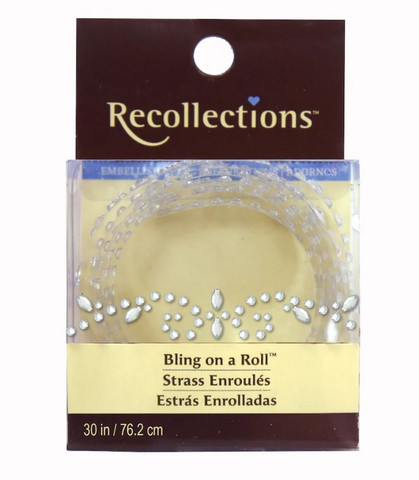 Recollections Bling on a Roll: Clear Vine Rhinestones