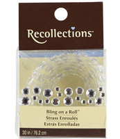 Recollections Bling on a Roll: Clear Mixed Rhinestones