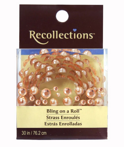 Recollections Bling on a Roll:  Mixed Beige Rhinestones & Pearls