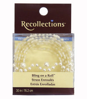 Recollections Bling on a Roll:  White Pearl Eyelet