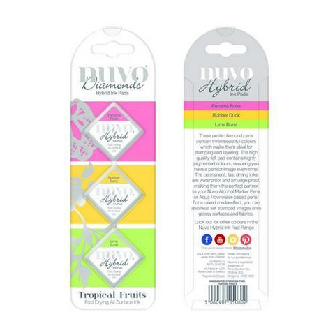 Nuvo Hybrid Ink Pads:  Tropical Fruits - mustepakkaus