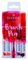 Ecoline Brush Pen x 5 : Red - pakkaus