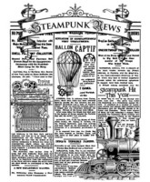 Stamperia:  Steampunk News -leimasin
