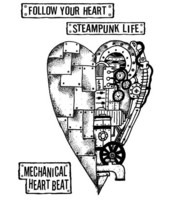 Stamperia:  Mechanical Heart -leimasinsetti