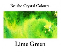 Brusho Crystal Colors -  Lime Green 15g