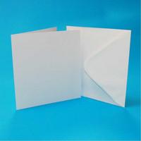 Craft UK: 4x4 korttipohjat ja kirjekuoret 50 kpl valkoinen