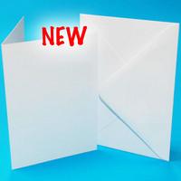 7 x 10  korttipohjat ja kirjekuoret 25 kpl valkoinen