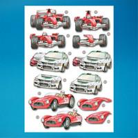 Stanssattu 3d-arkki: Racing Cars