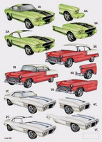 Stanssattu 3d-arkki: Muscle Cars
