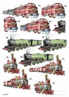 Stanssattu 3d-arkki:  Trains
