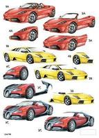 Stanssattu 3d-arkki:  Super Cars (foilattu)