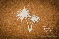 Vintage Tropical Island: Palm trees -chipboardpakkaus
