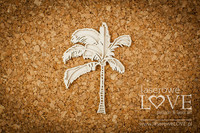 Vintage Tropical Island: Layered Palm Tree -chipboardpakkaus