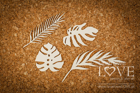 Vintage Tropical Island: Tropical Leaves -chipboardpakkaus