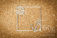 Ocean Adventure: Anchor Square Frame  -chipboardpakkaus