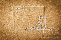 Ocean Adventure: Sand Castle Frame  -chipboardpakkaus