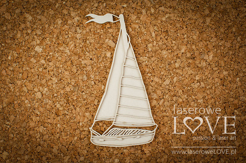 Vintage Tropical Island: Sailboat 3D  -chipboardpakkaus