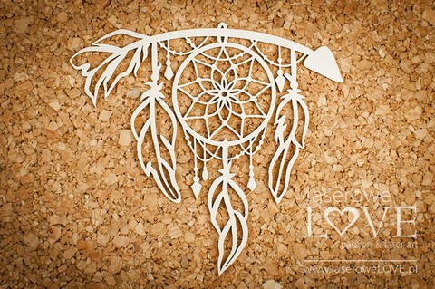 Indiana: Arrow with Dreamcatcher  -chipboardpakkaus