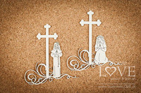 First Communion: Girl Under The Cross  -chipboardpakkaus