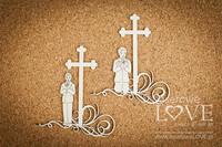 First Communion: Boy Under The Cross  -chipboardpakkaus