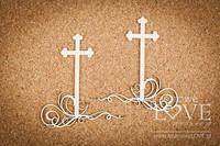 First Communion: Cross with Ornaments1  -chipboardpakkaus