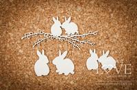 Yellow Spring: Bunnies in Love  -chipboardpakkaus