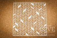 Love Llama: Chevron Background 12 x 12  -chipboardarkki