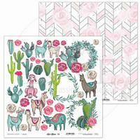 Love Llama Elements 12 x 12  - paperiarkki