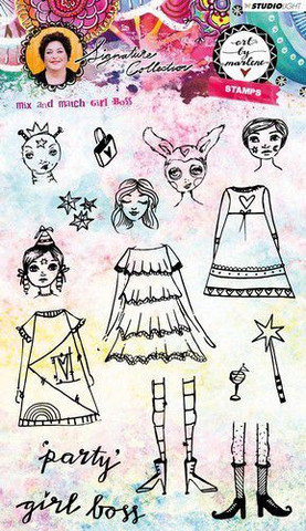 Art by Marlene: Girl Boss Art Clear Stamps A5 - leimasinsetti
