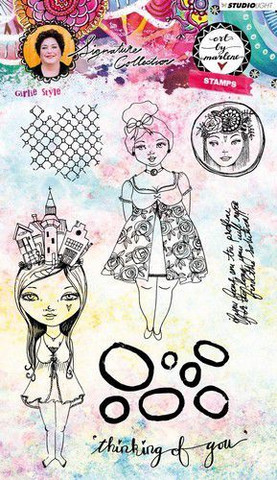 Art by Marlene: Girlie Style Art Clear Stamps A5 - leimasinsetti