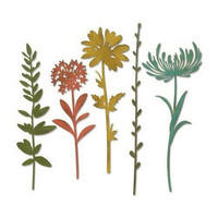 Sizzix Thinlits: Wildflower Stems #1  -stanssisetti