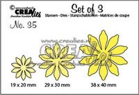 Set of 3 Dies: Flowers 35