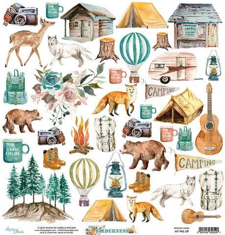 Wilderness Die Cuts 12x12 skräppipaperi