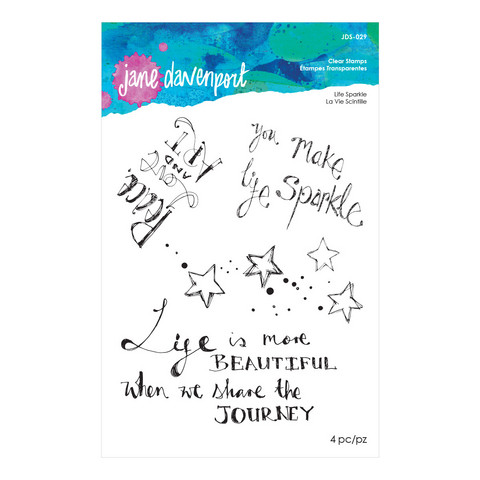 Jane Davenport Clear Stamps : Life Sparkle  - leimasinsetti